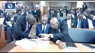 Lawyers Arrive At CCT To Defend CJN Onnoghen