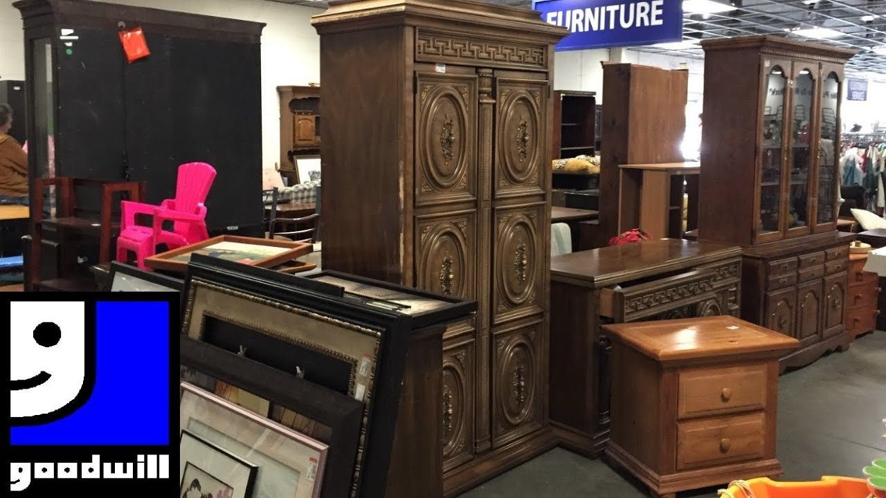 GOODWILL FURNITURE ARMCHAIRS CHAIRS TABLES - SHOP WITH ME SHOPPING STORE  WALK THROUGH 7K