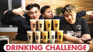 DRINKING CHALLENGE | BUBBLE TEA | Who drinks faster?