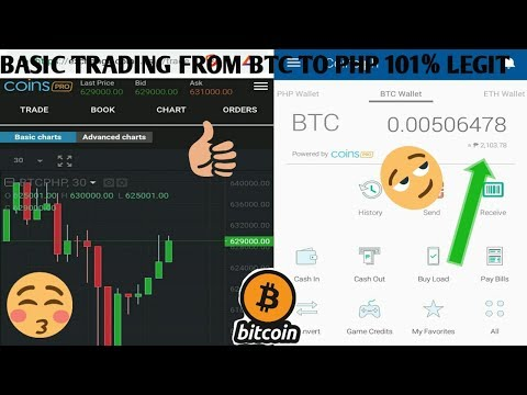 COINSPRO BASIC TRADING BITCOIN TO PHP TUTORIAL And Reviews TAGALOG 2019