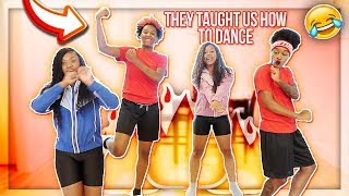BRACEFACELAII & D1.NAYAH TEACHES US HOW TO DANCE!! **went terrible**
