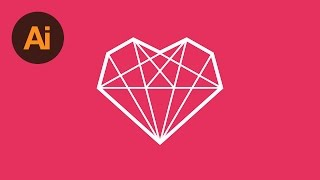 How to Draw a Diamond Heart Icon in Illustrator