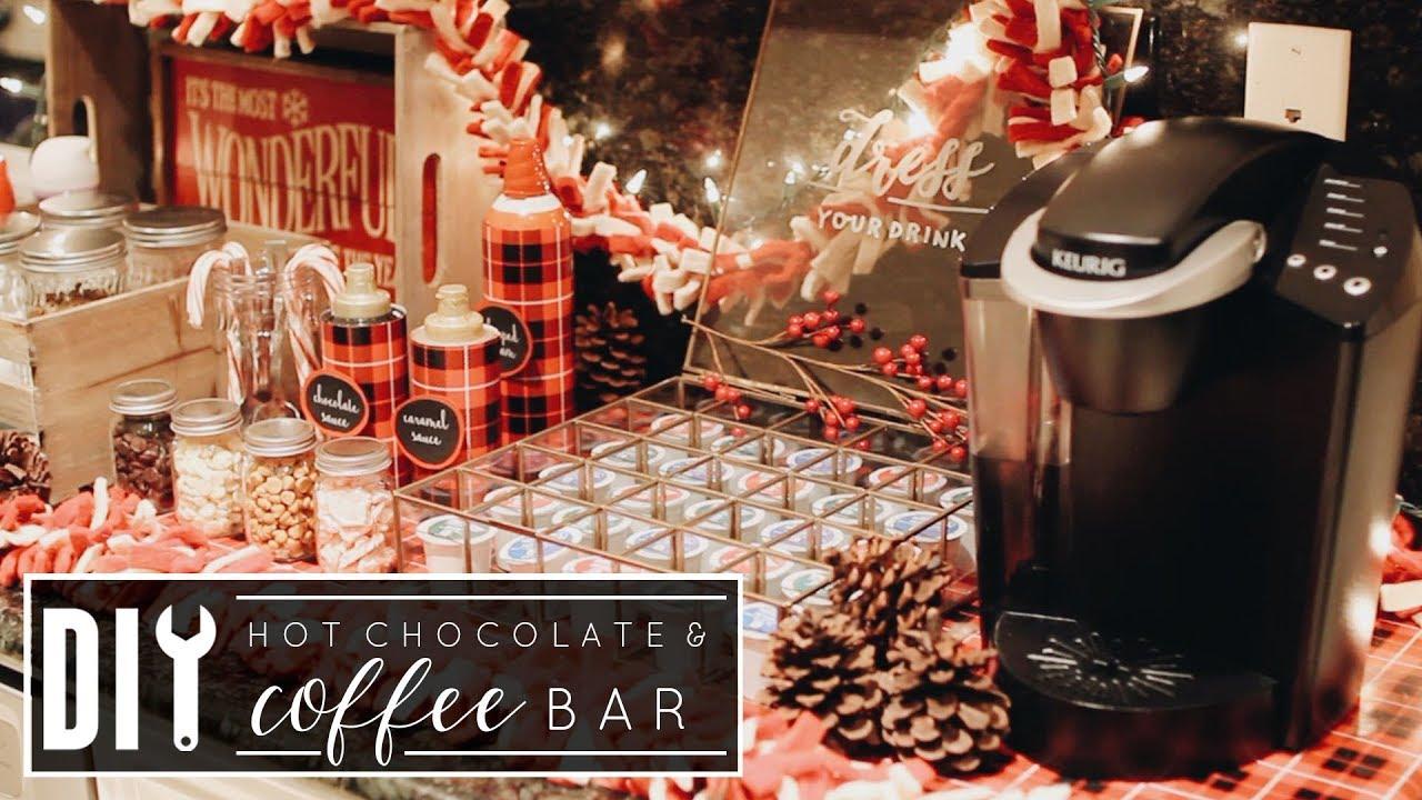 Utube 2020 Christmas Coffee Cicoa Bar DIY Hot Chocolate & Coffee Bar | Christmas 2017   YouTube
