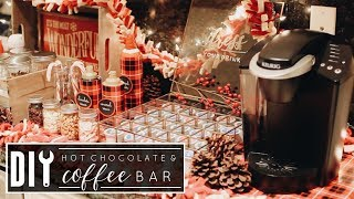 DIY Hot Chocolate & Coffee Bar | Christmas 2017