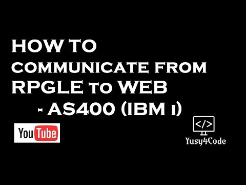 How To Communicate From AS400 RPGLE To Web Browser