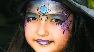 Repeat youtube video Hexe schminken - Hexengesicht Schminke für Halloween / Anleitung & Vorlage