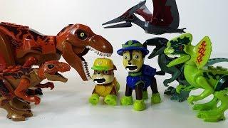 Щенячий Патруль и ДИНОЗАВРЫ Лего Мир Юрского Периода - Новый Мультик для детей Игрушки LEGO 2018