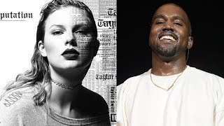 fans think taylor swift is shading kanye with reputation album cover