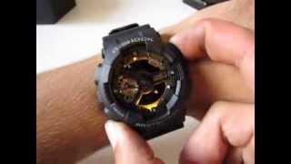 CASIO G-Shock GA-110RG-1A - black/rose gold ana-digi watch
