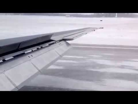 Icy runway landing-dayton international airport-jan