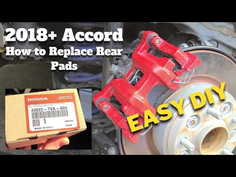 How To Replace REAR Brake Pads 2018+ Honda Accord | Everything You Need To Know