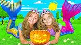 Sasha's friends turned into Halloween Mermaids
