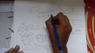 A sketch on save water