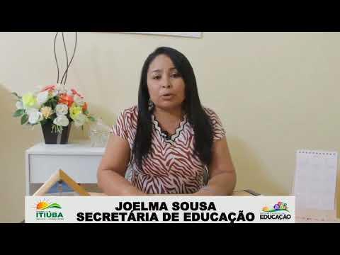 SECRETÁRIA JOELMA DA EDUCAÇÃO DE ITIÚBA FALA SOBRE KIT MERENDA ESCOLAR