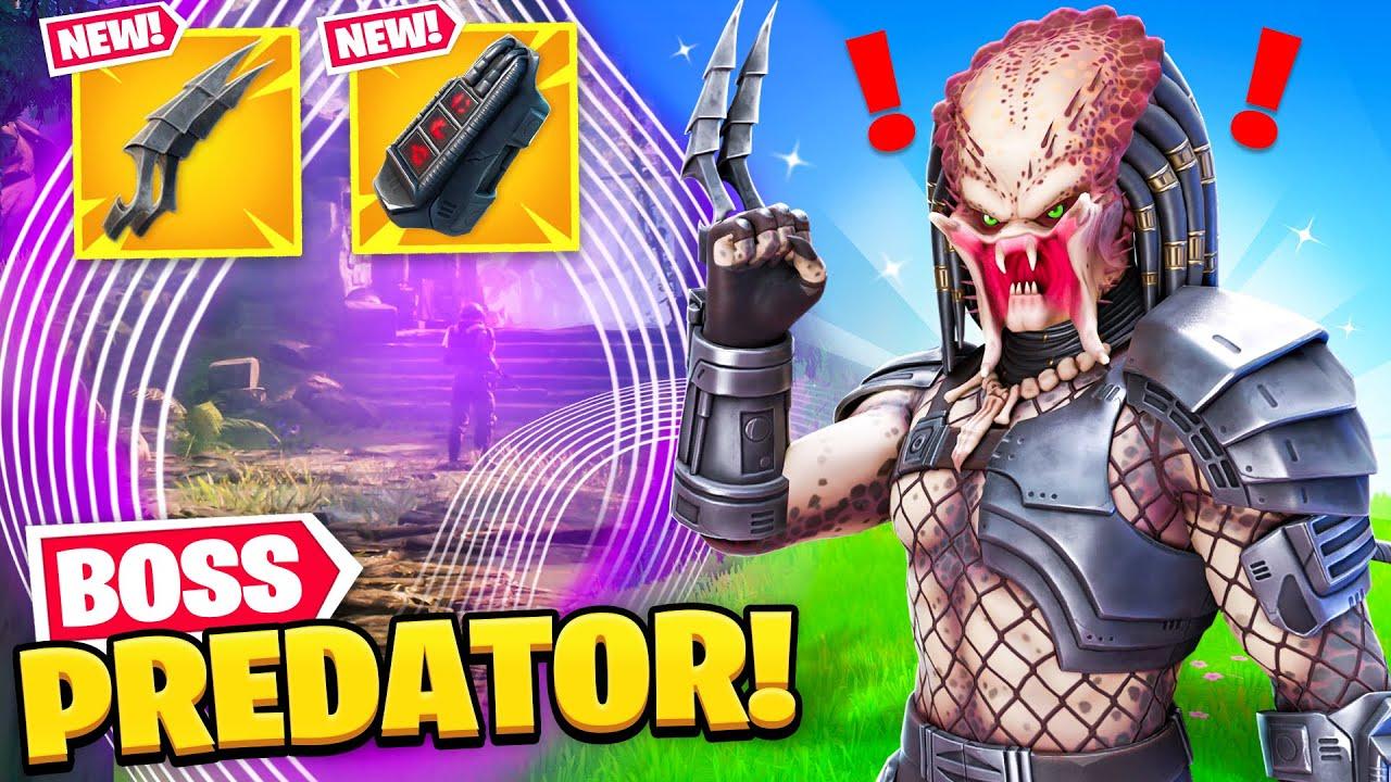 *NEW* PREDATOR BOSS found in Fortnite! (NEW MYTHIC, SECRET SKIN + MORE)