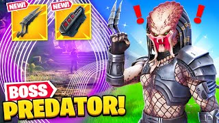 *NEW* PREDATOR BOSS found in Fortnite! (NEW MYTHIC, SECRET SKIN + MORE)