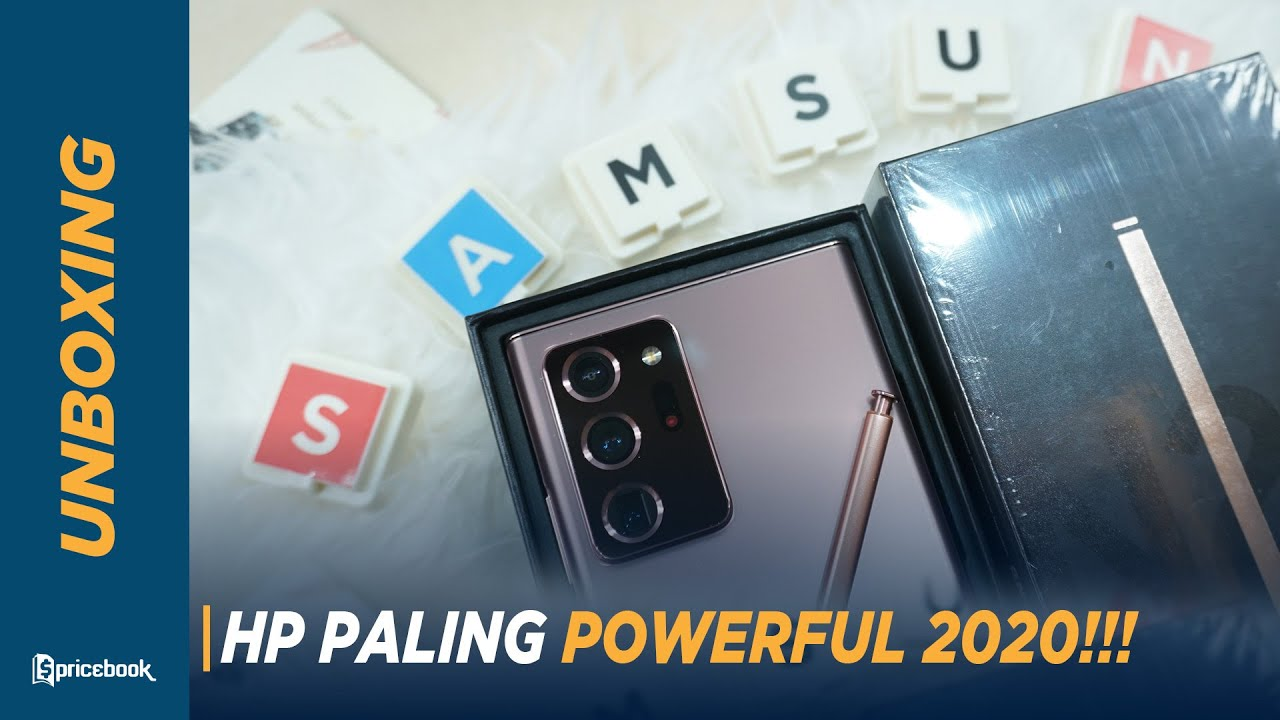 HP Tercanggih Buat Main & Kerja! Unboxing Samsung Galaxy Note 20 Ultra
