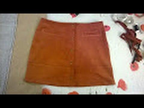 couture modifier une jupe trap ze avec un zip invisible lat ral en jupe droite youtube. Black Bedroom Furniture Sets. Home Design Ideas