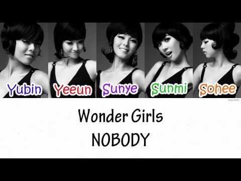 Wonder Girls - NOBODY Lyrics [HAN|ROM|ENG]