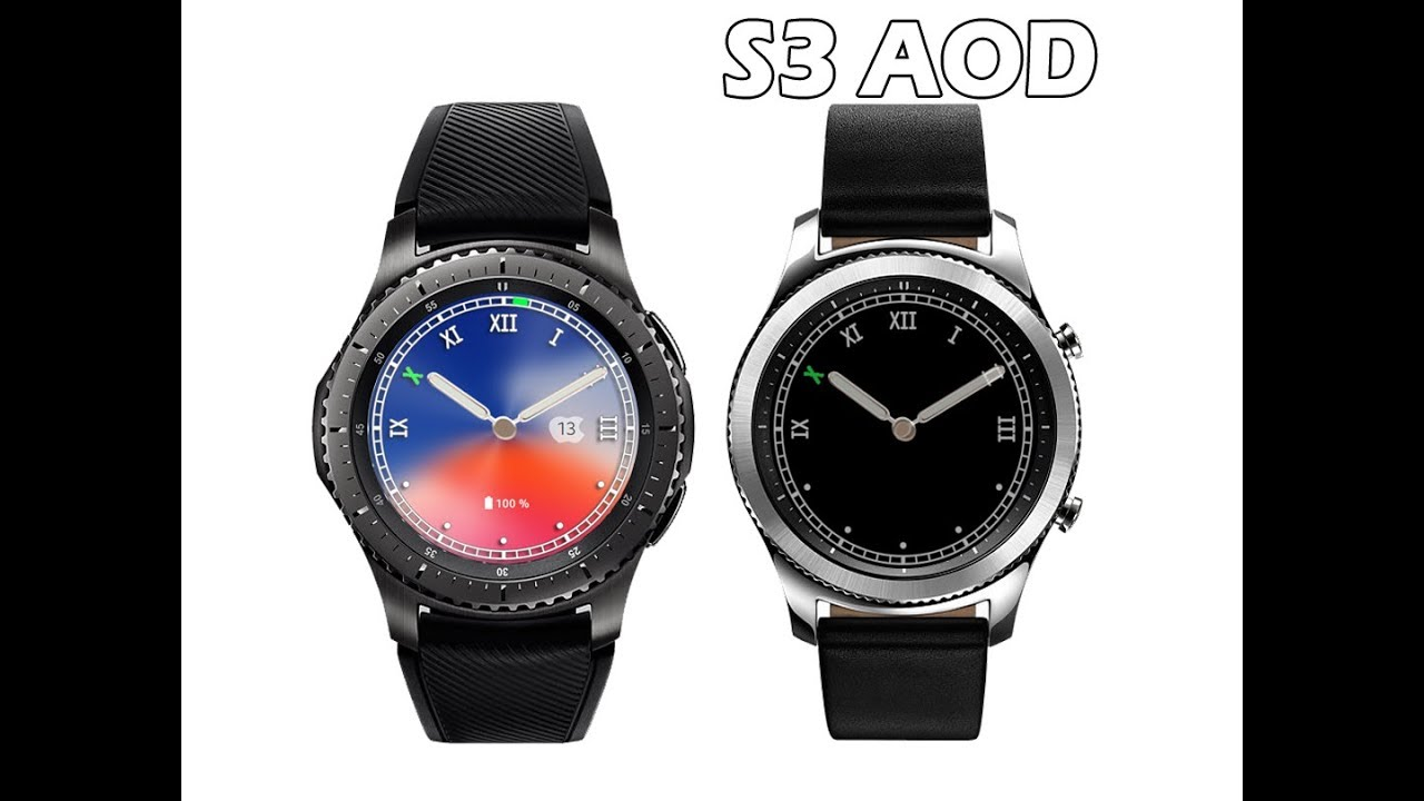 info for d72c1 6c7e3 Samsung Gear S3 and S2 Watch Face   New iPhone X (10) theme colours   with  AOD Supports