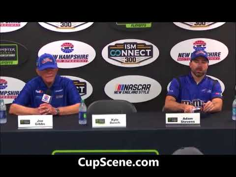 NASCAR at New Hampshire Motor Speedway, Sept. 2017:  Adams, Gibbs post race