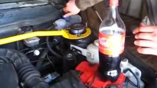 Кока Кола. Чистим систему охлаждения двигателя. Промывка.