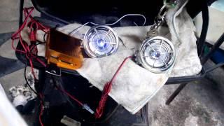alarma moto reproductor usb sd radio fm