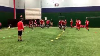 Olympiacos Chicago training with Olympiacos Thessaloniki