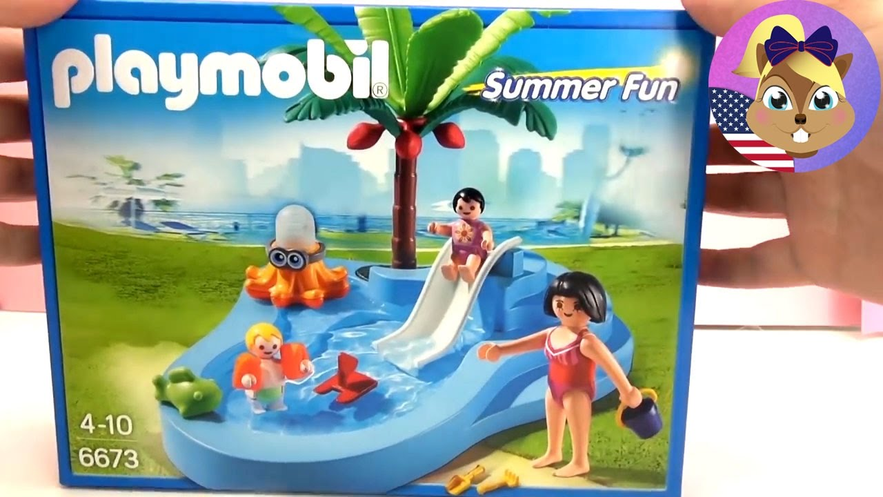 Elegant Playmobil Summer Fun Baby Pool With Slide   6673 Unboxing