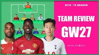 TEAM REVIEW – GAMEWEEK 27 TRANSFER THOUGHTS   Fantasy Premier League 2018/19