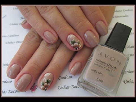 Unhas Decoradas #62 - Flor com nude thumbnail