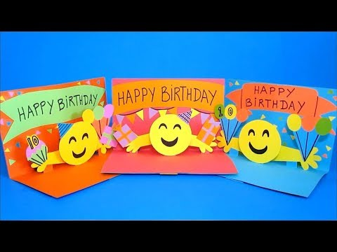 DIY Pop Up Card 3D Emoji Birthday Cards Easy Crafts For Kids