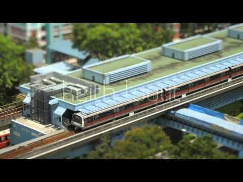 Tilt Shift - Singapore Queenstown MRT - Stock Footage