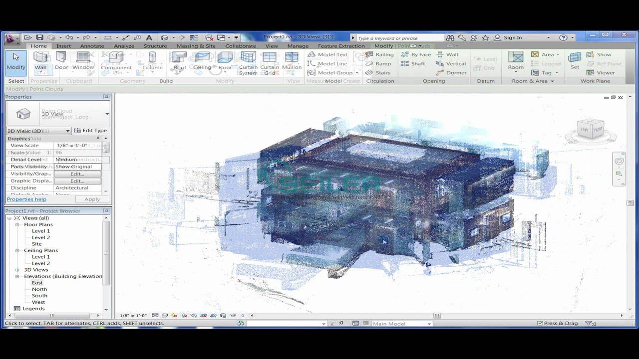 97c7fe506 How to bring a Point Cloud into Autodesk Revit.wmv
