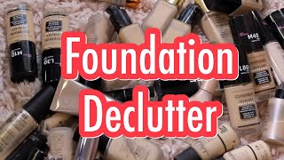 FOUNDATION DECLUTTER | CONFESSIONS OF A MAKEUP HOARDER