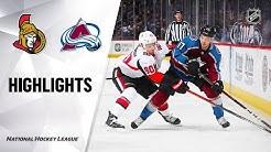 NHL Highlights | Senators @ Avalanche 2/11/20