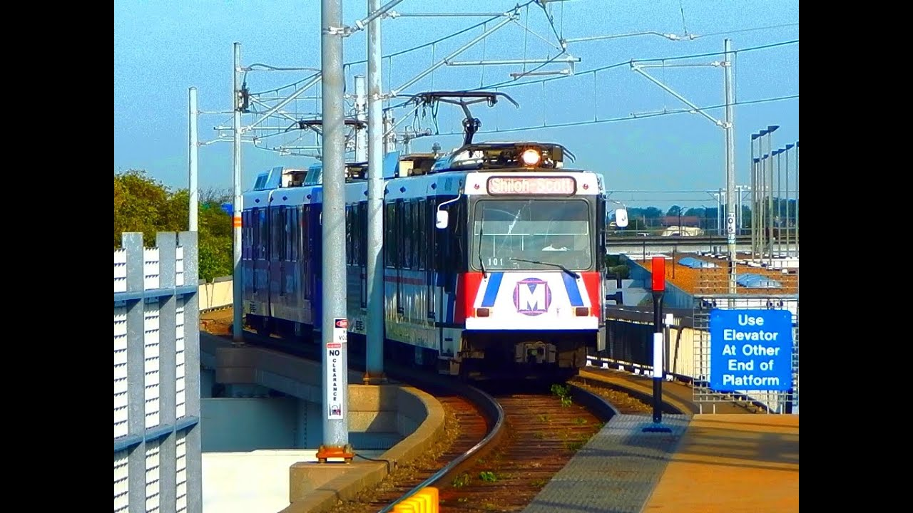 STL MetroLink RED BLUE Lines Light Rail to Lambert