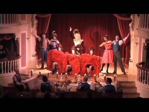 FULL Golden Horseshoe Revue salute at Disneyland, first performance for Limited Time Magic