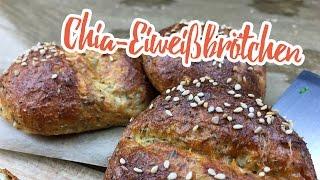 Low-Carb Chia-Eiweißbrötchen - Essen ohne Kohlenhydrate