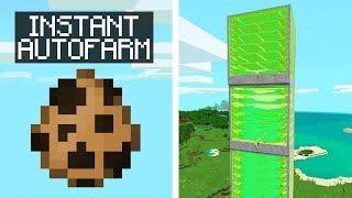 SPAWN INSTANT MEGA AUTOFARMS IN MCPE! (Minecraft Addon Mod)