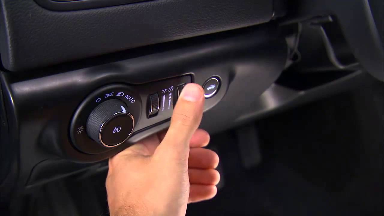 2015 Chrysler 200 Light Control Dimmer Control And Fog Lights Youtube