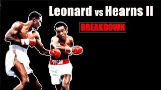 The Greatest Back & Forth Battle In Boxing Explained - Hearns vs Leonard 2 Fight Breakdown
