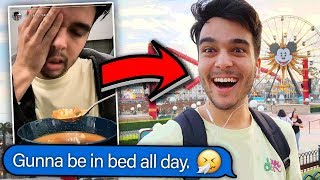 I FAKED Being SICK And Went To DISNEYLAND! **INSTAGRAM PRANK**