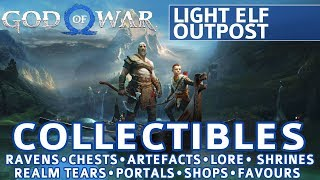 God of War - Light Elf Outpost All Collectible Locations (Ravens, Chests, Artefacts, Shrines) - 100%