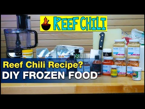 DIY Reef Chili: Make Your Own Saltwater Fish Food! How To Make Frozen Fish And Coral Foods. | BRStv