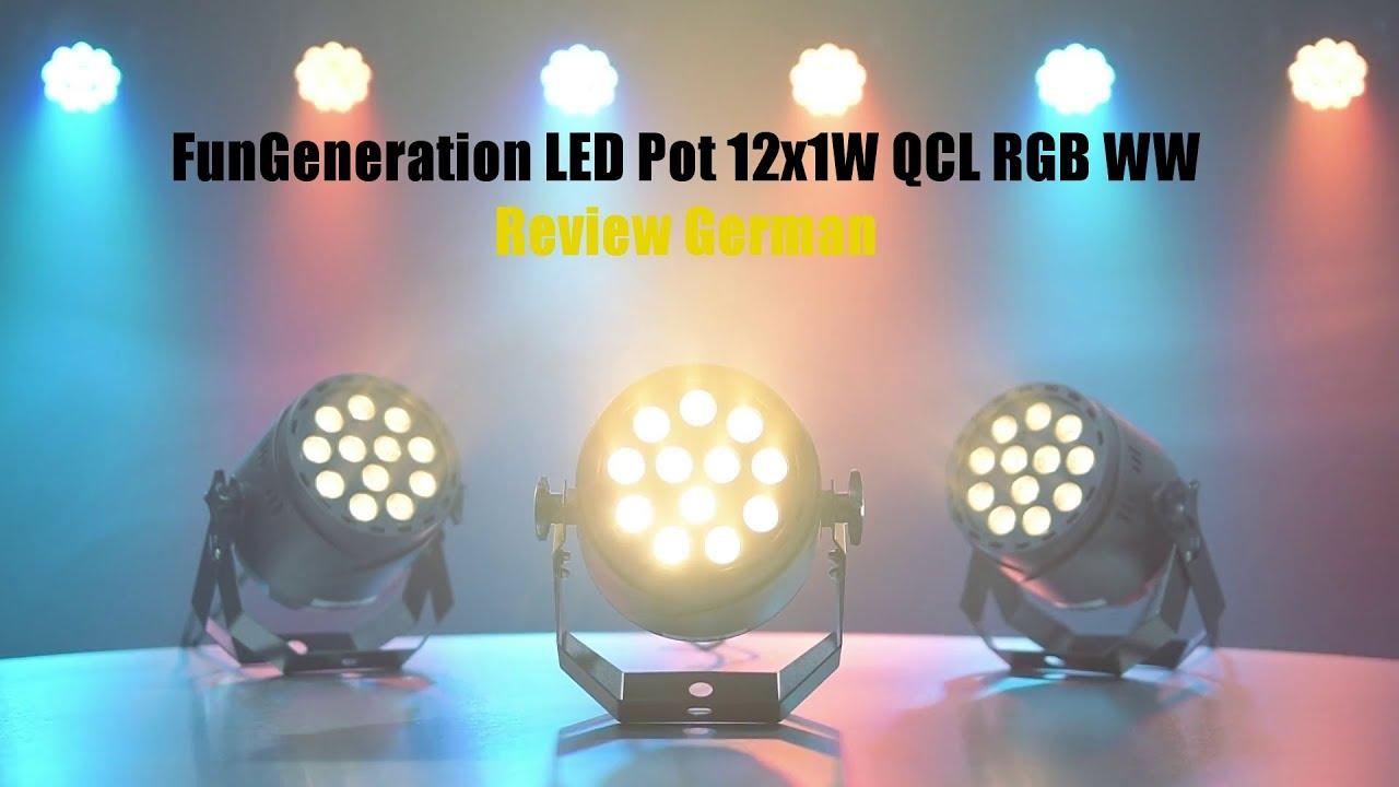 Thomann - Fun Generation LED Pot 12x1W QCL RGB WW Review German