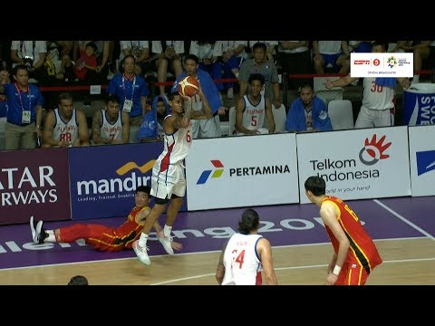 HIGHLIGHTS: Gilas Pilipinas vs. China (VIDEO) Asian Games 2018