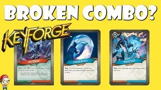 Have People Found a Broken Combo in Keyforge? (Library Access + Phase Shift + Key Charge)
