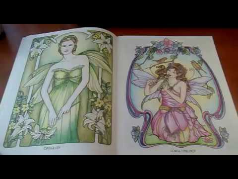 Completed Floral Fairies Coloring book - YouTube