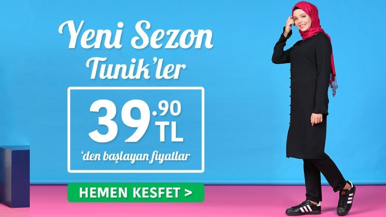 ddb25c7148a27 Tekbir Giyim Yeni Sezon Tesettür Tunik Modelleri 1/2 - YouTube